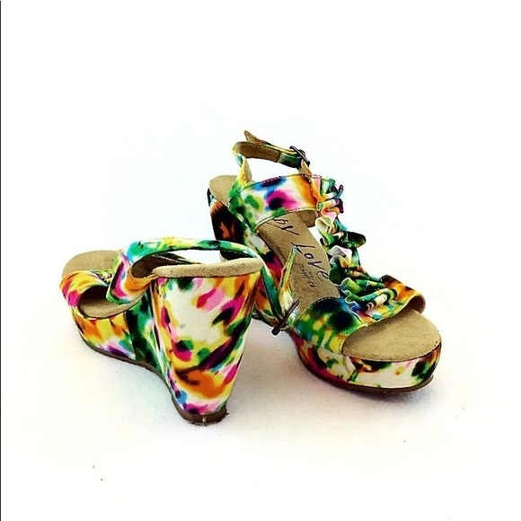 Guppy Love By Blowfish Wedge Sandals